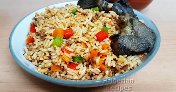 beef mince jollof rice
