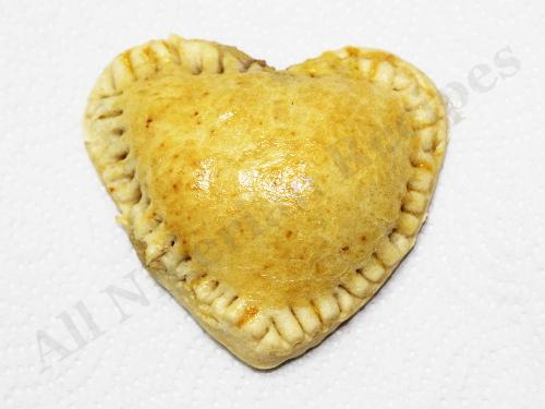 Heart Shaped Nigerian Meat Pies