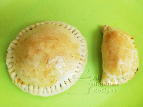 Sun and Moon Shaped Nigerian Meat Pies