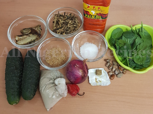 cucumber abacha ingredients