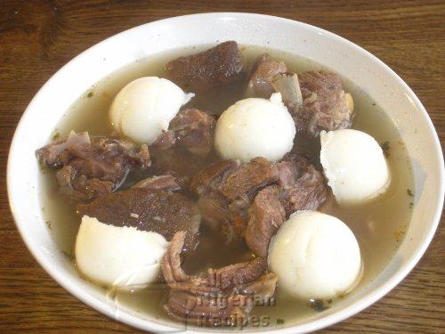 goat meatpepper soup