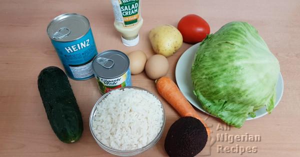 nigerian rice salad ingredients