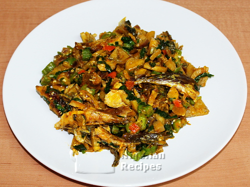 okra plantain porridge