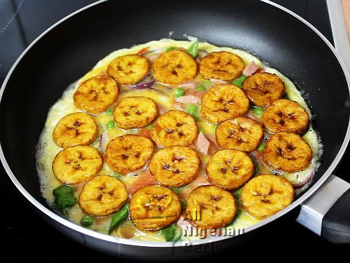 plantain omelette