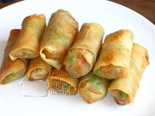 Nigerian Small Chops Spring Rolls All Nigerian Food Recipes