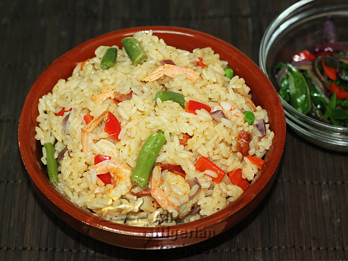 nigerian white coconut rice
