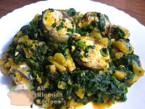 unripe plantain pottage