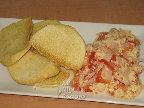 crunchy fried yam