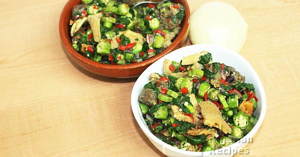 oiless okra soup