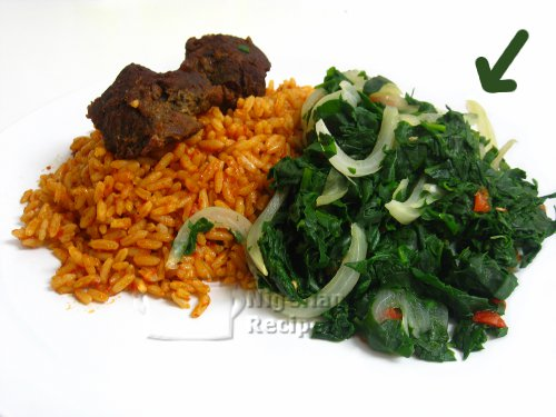 nigerian steamed leafy vegetables