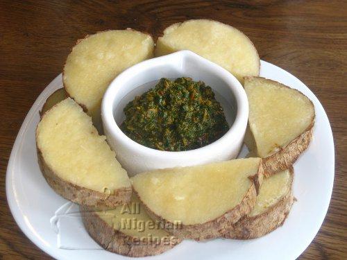 yam and vegetable sauce