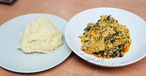nigerian egusi soup with 5 ingredients