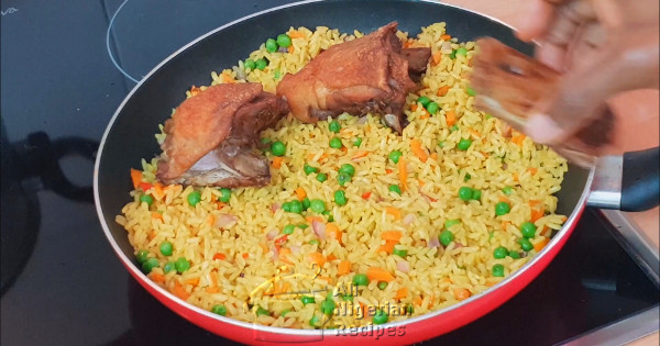 nigerian fried rice with 5 ingredients