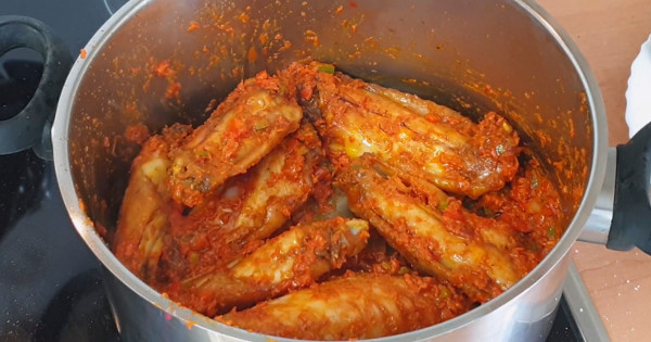 peppered turkey wings
