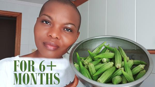how to preserve okra