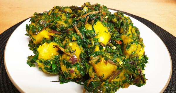 vegan yam and vegetable
