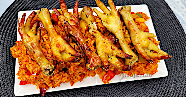 nigerian jollof rice chicken feet